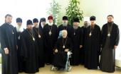 Блаженнейшего митрополита Киевского и всея Украины Владимира посетили члены Священного Синода Украинской Православной Церкви