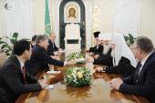Состоялась встреча Святейшего Патриарха Кирилла с Президентом Киргизии А.Ш. Атамбаевым