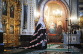 Предстоятель Русской Православной Церкви совершил вечерню с чином прощения в Храме Христа Спасителя