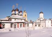 В четверг первой седмицы Великого поста Святейший Патриарх Кирилл молился за уставным богослужением в Богородице-Рождественском монастыре