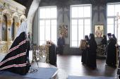 Патриаршее служение в четверг первой седмицы Великого поста в Богородице-Рождественском cтавропигиальном монастыре
