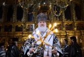 Патриаршее служение в Троице-Сергиевой лавре в пятницу первой седмицы Великого поста