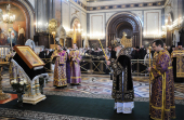 В канун недели Торжества Православия Святейший Патриарх Кирилл совершил всенощное бдение в Храме Христа Спасителя