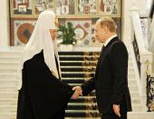 Святейший Патриарх Кирилл поздравил В.В. Путина с избранием на пост Президента Российской Федерации