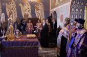 В канун недели 2-й Великого поста Святейший Патриарх Кирилл совершил всенощное бдение в Стефано-Махрищском ставропигиальном монастыре