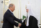 Предстоятель Русской Церкви встретился с руководством Внешэкономбанка