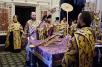 Всенощное бдение в Храме Христа Спасителя в канун Крестопоклонной недели