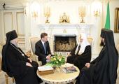 Святейший Патриарх Кирилл принял губернатора Ставропольского края В.В. Гаевского