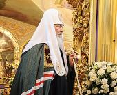 Слово Святейшего Патриарха Кирилла в неделю 4-ю Великого поста в храме святителя Николая Чудотворца в Хамовниках
