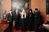 Святейший Патриарх Кирилл встретился с президентом Всемирного баптистского альянса пастором Джоном Аптоном