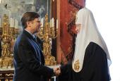 Состоялась встреча Предстоятеля Русской Православной Церкви с послом США М. Макфолом
