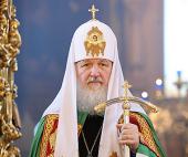 Слово Святейшего Патриарха Кирилла в праздник Похвалы Пресвятой Богородицы в храме Тихвинской иконы Божией Матери в Алексеевском