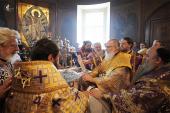 В неделю 5-ю Великого поста Святейший Патриарх Кирилл совершил Литургию в храме святителя Николая в Кузнецах и хиротонию архимандрита Никифора (Хотеева) во епископа Отрадненского