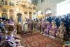Патриаршее служение в неделю 5-ю Великого поста в храме святителя Николая в Кузнецах. Хиротония архимандрита Никифора (Хотеева) во епископа Отрадненского