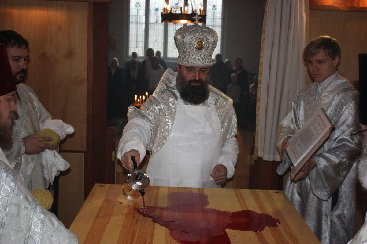 Освящение храма святых Айдана и Чада