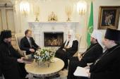 Состоялась встреча Святейшего Патриарха Кирилла с Президентом Приднестровья Евгением Шевчуком