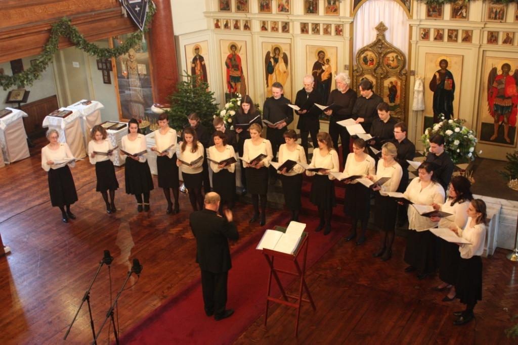 Выступление хора Успенского кафедрального собора