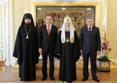 Святейший Патриарх Кирилл принял глав Карачаево-Черкесии и Кабардино-Балкарии
