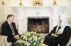 Встреча Святейшего Патриарха Кирилла с губернатором Курской области А.Н. Михайловым