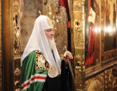 Слово Святейшего Патриарха Кирилла в праздник Благовещения Пресвятой Богородицы после Божественной литургии в Благовещенском соборе Московского Кремля