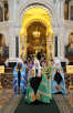 Патриаршее служение в Храме Христа Спасителя в праздник Входа Господня в Иерусалим. Хиротония архимандрита Августина (Анисимова) во епископа Городецкого