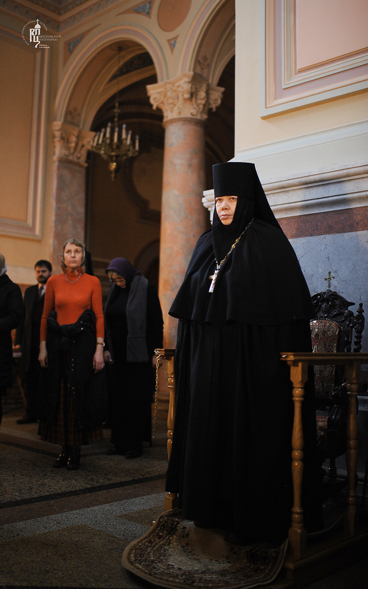 Утреня в Иоанно-Предтеченском ставропигиальном монастыре в канун Великого вторника