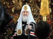 Слово Святейшего Патриарха Кирилла в Великий вторник в Высоко-Петровском монастыре