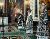 Слово Святейшего Патриарха Кирилла в Великую среду в Храме Христа Спасителя
