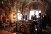 Утреня Великого четверга в Заиконоспасском монастыре