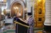 Патриаршее служение в Храме Христа Спасителя в Великий четверг. Божественная литургия и чин освящения мира