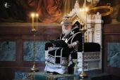 В Великую субботу Святейший Патриарх Кирилл совершил Литургию св. Василия Великого в Храме Христа Спасителя
