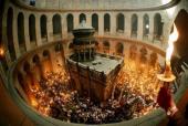 Обращение Святейшего Патриарха Кирилла к телезрителям трансляции схождения Благодатного огня