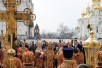 Патриаршее служение в Успенском соборе Московского Кремля в понедельник Светлой седмицы