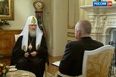 Пасхальное интервью Предстоятеля Русской Православной Церкви телеканалу «Россия»