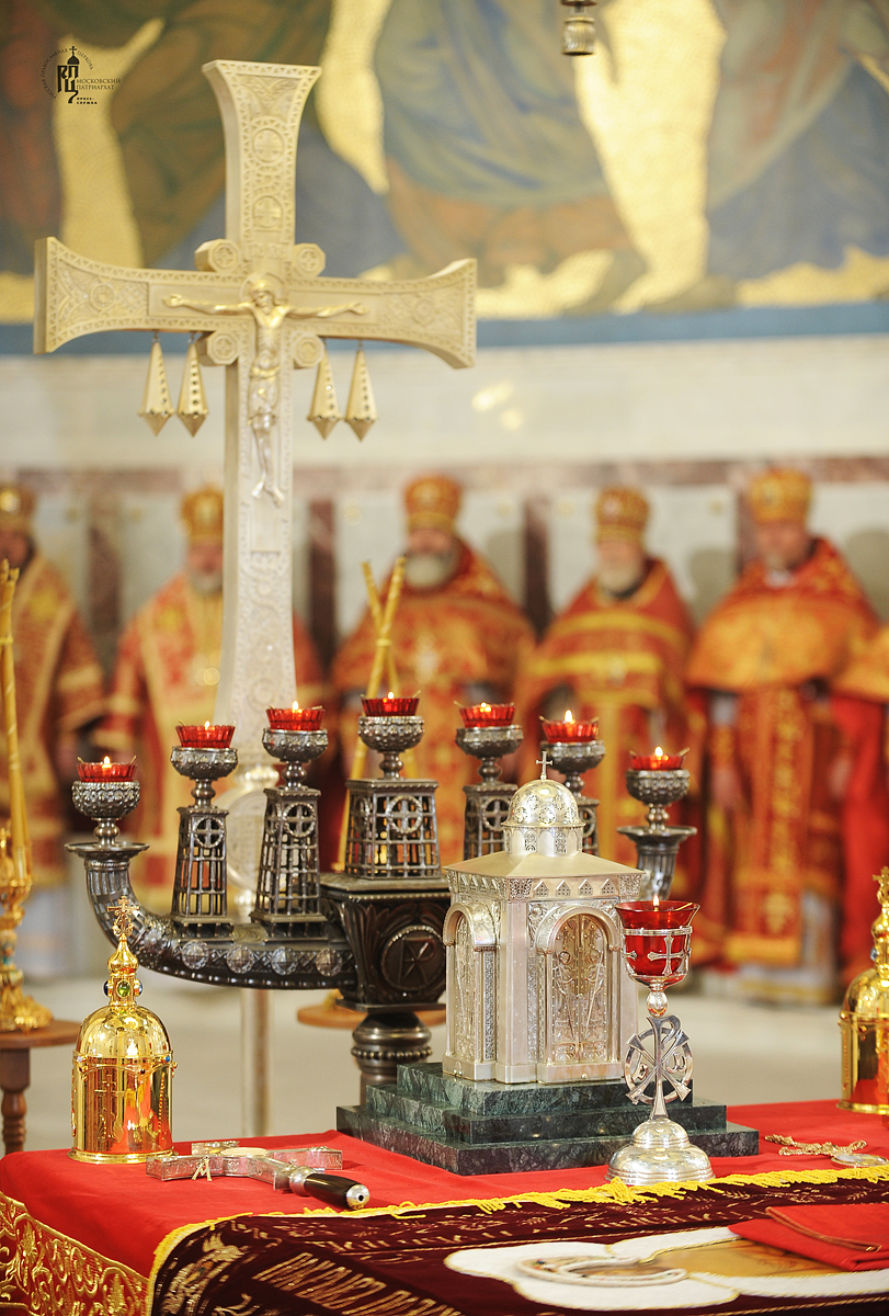 Чин малого освящения Кронштадтского Морского собора во имя святителя Николая Чудотворца. Божественная литургия в новоосвященном храме