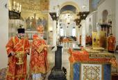 Святейший Патриарх Кирилл совершил чин малого освящения Кронштадтского Морского собора во имя святителя Николая Чудотворца и Божественную литургию во вновь освященном храме