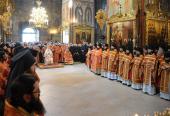 В день праздника иконы Божией Матери «Живоносный Источник» Предстоятель Русской Церкви совершил Литургию и водосвятный молебен в Троице-Сергиевой лавре