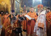 К празднику Святой Пасхи Святейший Патриарх Кирилл удостоил ряд насельников и клириков ставропигиальных монастырей богослужебных наград