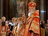 В неделю 2-ю по Пасхе Святейший Патриарх Кирилл совершил Литургию в Храме Христа Спасителя и возглавил хиротонию архимандрита Варнавы (Баранова) во епископа Выксунского