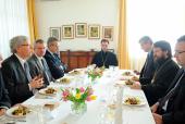 Председатель Отдела внешних церковных связей Московского Патриархата встретился с послами стран Евросоюза