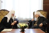 Состоялась встреча Святейшего Патриарха Кирилла со Святейшим Патриархом Болгарским Максимом и членами Священного Синода Болгарской Православной Церкви
