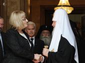 Предстоятель Русской Православной Церкви встретился с Председателем Народного Собрания Болгарии Ц. Цачевой