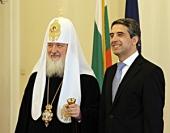 Святейший Патриарх Кирилл встретился с Президентом Республики Болгарии Росеном Плевнелиевым