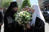 Святейший Патриарх Кирилл встретился с соотечественниками на подворье Русской Православной Церкви в Софии