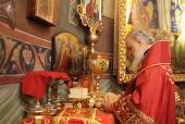 В день памяти великомученика Георгия Победоносца Святейший Патриарх Кирилл совершил Божественную литургию в Свято-Георгиевском храме на Поклонной горе