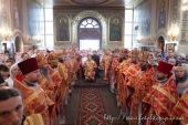Блаженнейший митрополит Владимир возглавил престольный праздник в Свято-Георгиевском храме Киева