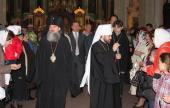 Митрополит Волоколамский Иларион и архиепископ Виленский и Литовский Иннокентий совершили в Вильнюсе Божественную литургию