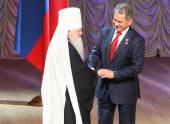 Митрополит Крутицкий и Коломенский Ювеналий принял участие в церемонии вступления С.К. Шойгу в должность губернатора Московской области