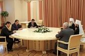 Митрополит Волоколамский Иларион и митрополит Среднеазиатский Викентий встретились с Президентом Таджикистана