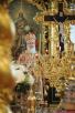Божественная литургия в Николо-Богоявленском Морском соборе Петербурга в день памяти святителя Николая Чудотворца. Хиротония архимандрита Мстислава (Дячины) во епископа Лодейнопольского